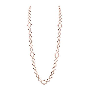 Gumuchian Secret Garden 18k Rose Gold Diamond & Ruby Necklace