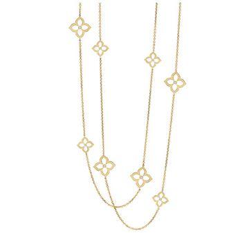 Gumuchian 18k Yellow Gold Diamond Lotus Necklace