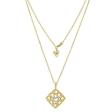 Gumuchian 18k Yellow Gold Diamond Tiny Hearts Cushion Motif Pendant