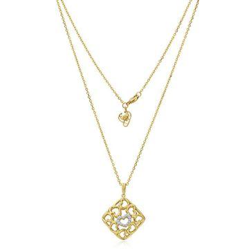 Gumuchian 18k Yellow Gold Diamond Tiny Hearts Cushion Motif Pendant