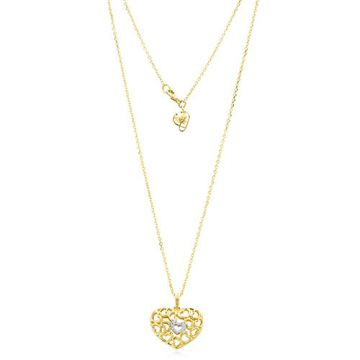 Gumuchian 18k Yellow Gold Diamond Tiny Hearts Heart Motif Pendant