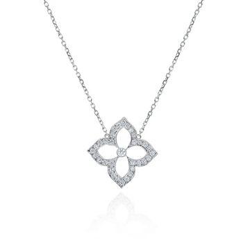 Gumuchian 18k White Gold Diamond Lotus Pendant