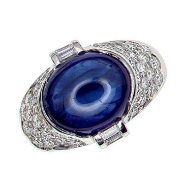 Gumuchian Platinum One of a Kind Sapphire Ring
