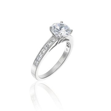 Gumuchian Bridal Platinum Diamond Straight Semi-Mount Engagement Ring