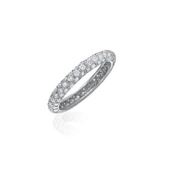 Gumuchian Bridal 18k White Gold Diamond Eternity Wedding Band