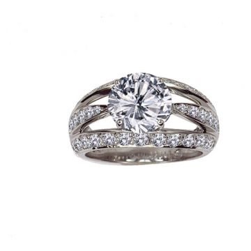 Gumuchian Luna Platinum Diamond Free Form Semi-Mount Engagement Ring