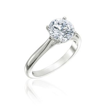 Gumuchian Bridal 18k White Gold Solitaire Semi-Mount Engagement Ring