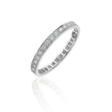 Gumuchian Bridal Platinum Cinderella Diamond Eternity Wedding Band