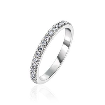 Gumuchian Bridal 18k White Gold Cinderella Diamond Anniversary Wedding Band