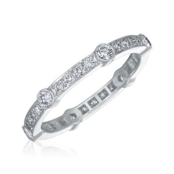 Gumuchian Carousel Platinum Diamond Eternity Wedding Band