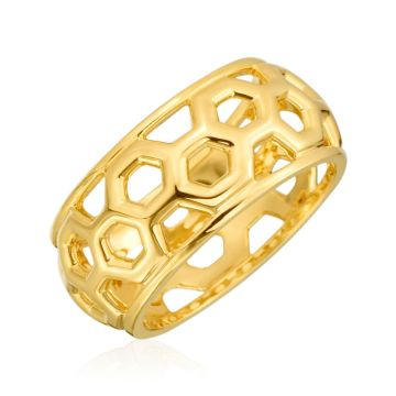 "Gumuchian Honeybee ""B"" 18k Yellow Gold Ring"