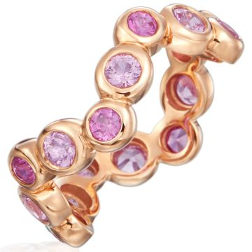Gumuchian Moonlight 18k Rose Gold Zigzag Pink Sapphire Ring