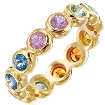 Gumuchian Moonlight 18k Yellow Gold Multicolor Sapphire Ring