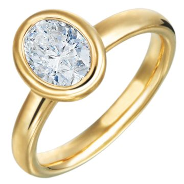 Gumuchian Moonlight 18k Gold Oval Solitaire Semi-Mount