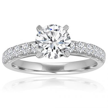 14K White Gold 1/5ct Diamond Engagement Ring