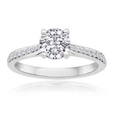14K White Gold 1/6ct Diamond Engagement Ring