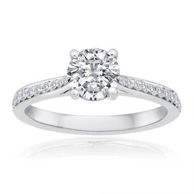 14K White Gold 1/6ct Diamond Engagement Ring