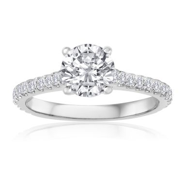 14K White Gold 3/8ct Diamond Engagement Ring