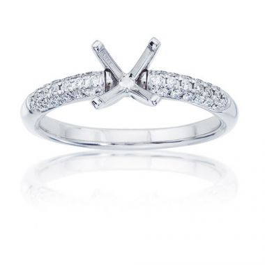 14K White Gold 1/3ct Diamond Engagement Ring