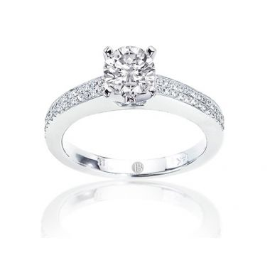 Imagine Bridal Two Row Diamond Pave Engagement Ring