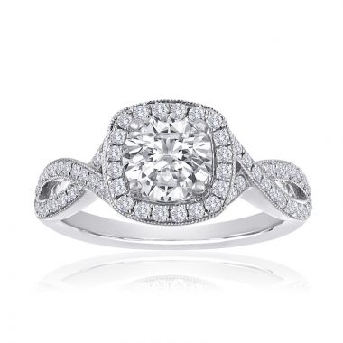 14K White Gold 2/5ct Diamond Engagement Ring