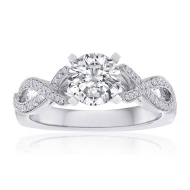 14K White Gold 1/4ct Diamond Engagement Ring