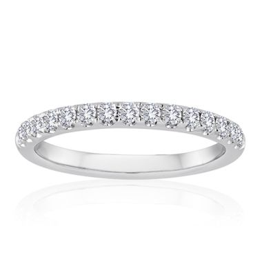 14K White Gold 1/4ct Diamond Anniversary Band