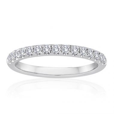 14K White Gold 3/4ct Diamond Anniversary Band