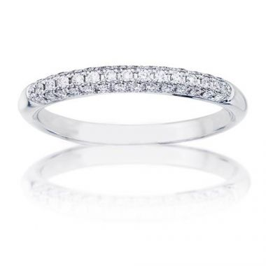 14K White Gold 1/3ct Diamond Anniversary Band