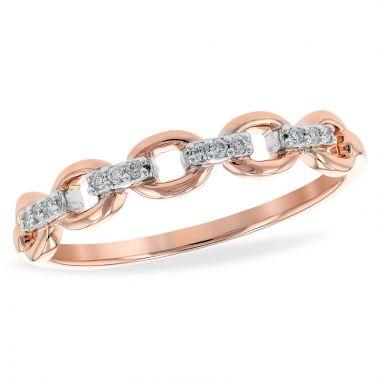 Allison Kaufman 14k Rose Gold Diamond Wedding Band