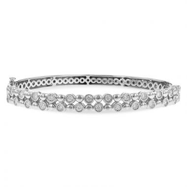 Allison Kaufman 14k White Gold Diamond Bracelet