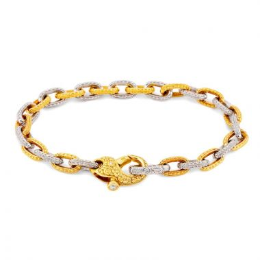 Alex Sepkus 18k Yellow Gold & Platinum Bracelet