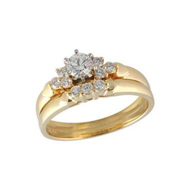Allison Kaufman 14k Yellow Gold Diamond Straight Bridal Set