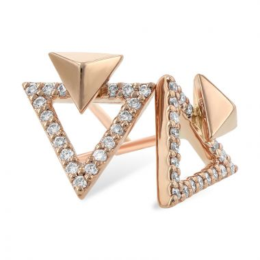 Allison Kaufman 14k Rose Gold Diamond Stud Earrings