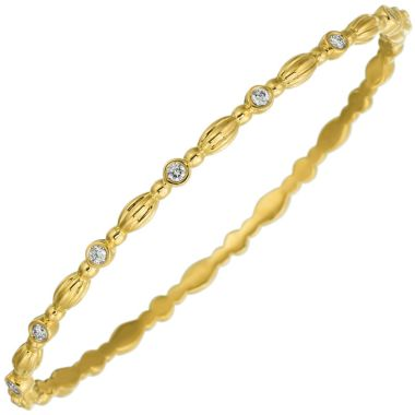 Gumuchian 18k Yellow Gold Diamond Bangle Bracelet