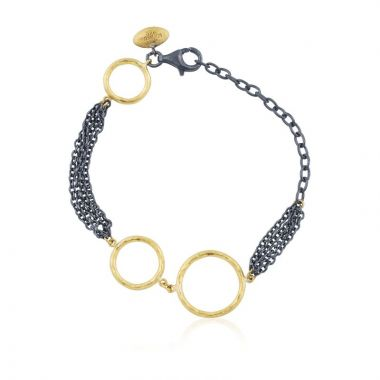 Lika Behar 24k Multi Tone Gold and Sterling Silver Bracelet