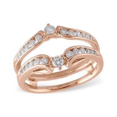 Allison Kaufman 14k Rose Gold Enhancer & Guard Wedding Band