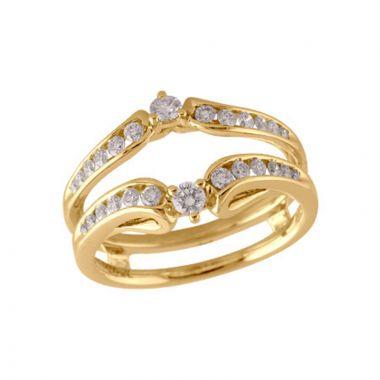 Allison Kaufman 14k Yellow Gold Enhancer & Guard Wedding Band
