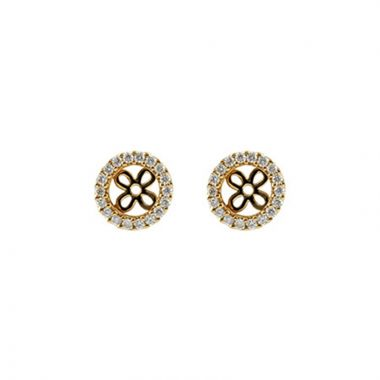 Allison Kaufman 14k Yellow Gold Diamond Stud Earrings