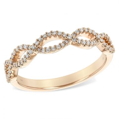 Allison Kaufman 14k Rose Gold Twist Wedding Band
