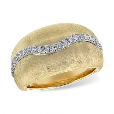 Allison Kaufman Two Tone 14k Gold Diamond Ring