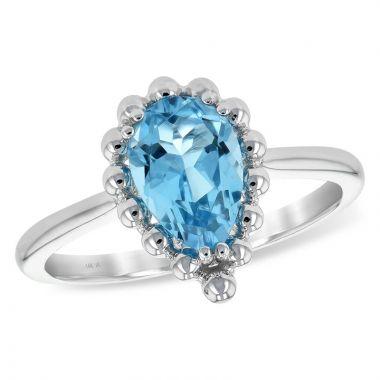 Allison Kaufman 14k White Gold Gemstone Ring
