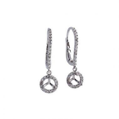 Allison Kaufman 14k White Gold Diamond Drop Earrings