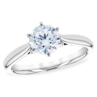 Allison Kaufman 14k White Gold Solitaire Semi-Mount Engagement Ring