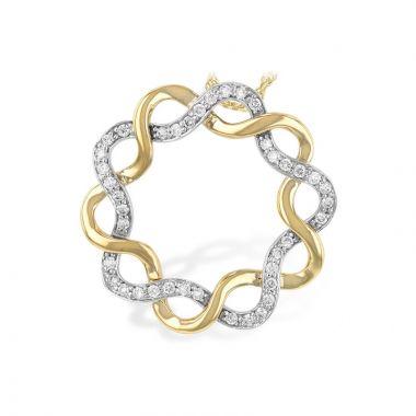 Allison Kaufman Two Tone 14k Gold Diamond Necklace