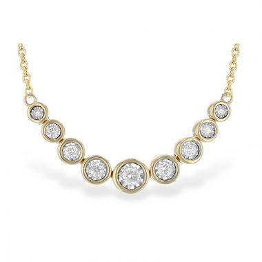 Allison Kaufman 14k Yellow Gold Diamond Necklace