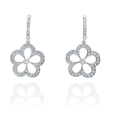 Gumuchian G. Boutique 18k White Gold Diamond Daisy Earrings