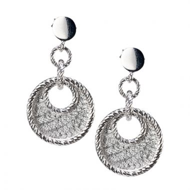 Gumuchian 18k White Gold Pave Doorknocker Drop Earrings
