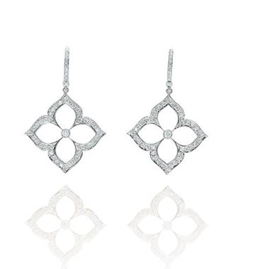 Gumuchian G. Boutique 18k White Gold Diamond Lotus Earrings