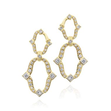 Gumuchian Secret Garden Linking Motif Diamond Drop Earrings